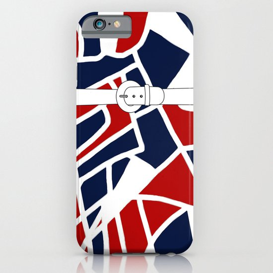 Red White & Blue iPhone & iPod Case