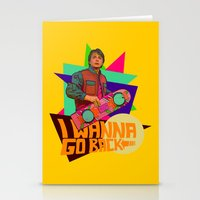 I Wanna Go Back!  |  Hoverboard  |  80's Inspiration Stationery Cards