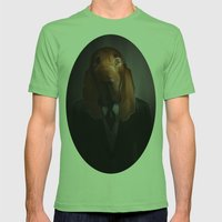 Good-Night, Sir Hound Mens Fitted Tee Grass SMALL