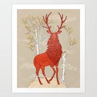 The Great Elk Art Print