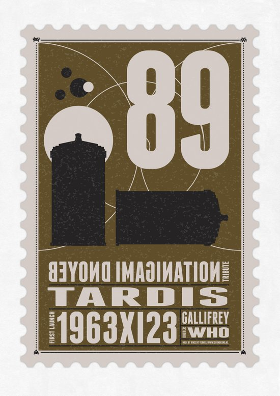 Bonus: Beyond imagination: TARDIS postage stamp Art Print