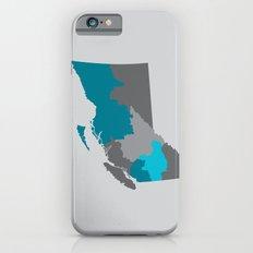 British Columbia Map Print Slim Case iPhone 6s