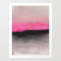 photography Art Prints featuring Double Horizon by Georgiana Paraschiv