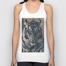 Tiger Eyes - by Julio Lucas  Unisex Tank Top