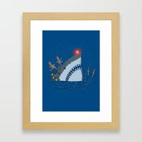 Rudolph Shark Framed Art Print