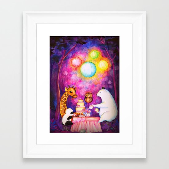 Woodland Tea Party Framed Art Print