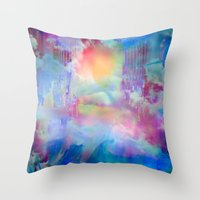 You Are entering a beautiful place called heaven  by Sherriofpalmsprings Throw Pillow