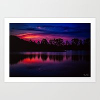 Florida nights... Art Print