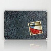 Chile grunge sticker flag Laptop & iPad Skin