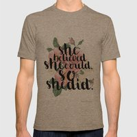 She believed she could so she did Mens Fitted Tee Tri-Coffee SMALL