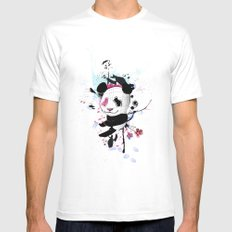 PANDA SMALL White Mens Fitted Tee