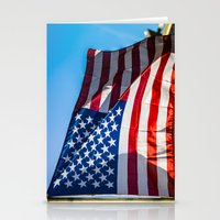 American Flag Stationery Cards