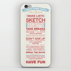 29 Ways to Stay Creative iPhone & iPod Skin