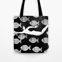 la alegría de los peces Tote Bag