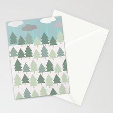 Pacific Northwest Tree and Rain Scene - Portland, PDX, Seattle, Washington, Oregon Stationery Cards