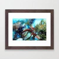 Yeri Kucaklayan Renkler Framed Art Print