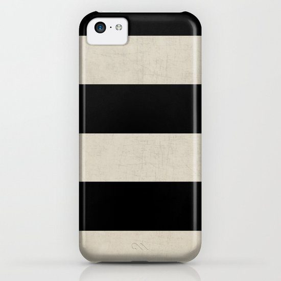 vintage black stripes iPhone & iPod Case