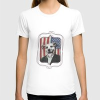 Patriotic Dog | USA Womens Fitted Tee White SMALL