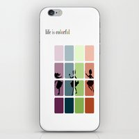 Life is colorful iPhone & iPod Skin