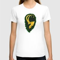 Loki's Helmet (Thor / the Avengers) Womens Fitted Tee White SMALL