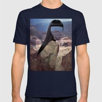 Haircut 8 Mens Fitted Tee Navy SMALL
