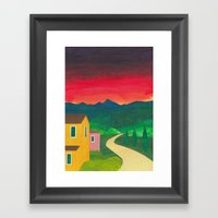 Mountain Sunset Framed Art Print