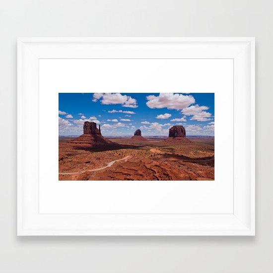 Monuments of Utah Framed Art Print