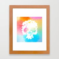 Skull Colors Framed Art Print