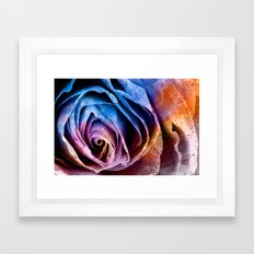 Abstract Acrylic Rose Framed Art Print