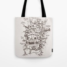 Howl's Moving Castle Plan Tote Bag