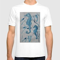 Hippocampus Mens Fitted Tee White SMALL