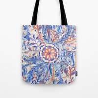 Boho Flower Burst In Red… Tote Bag