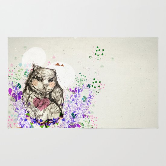 Little Owl Area & Throw Rug