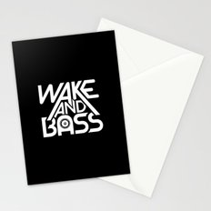 Wake And Bass (White) Stationery Cards
