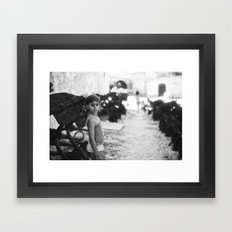 portrait at tonnara di scopello Framed Art Print