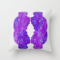 Looking On The Mirror Throw Pillow