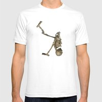 Skelly  Mens Fitted Tee White SMALL