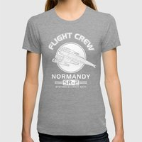 Normandy Flight Crew Womens Fitted Tee Tri-Grey SMALL