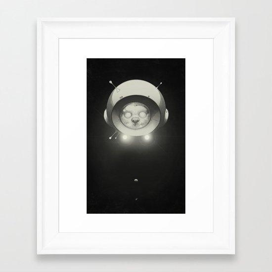 Space Kitty Framed Art Print