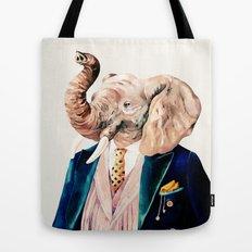 Elephant Cream Tote Bag