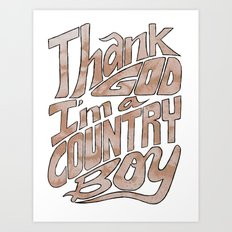 Thank God Art Print