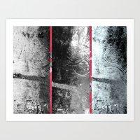 A Curtain Of Rain Circle… Art Print