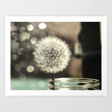 Dandelion in a Jar Art Print