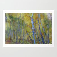 Blue Grove Art Print