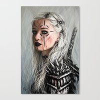 Alone but Free: Medieval Portrait of a Goth Girl Canvas Print