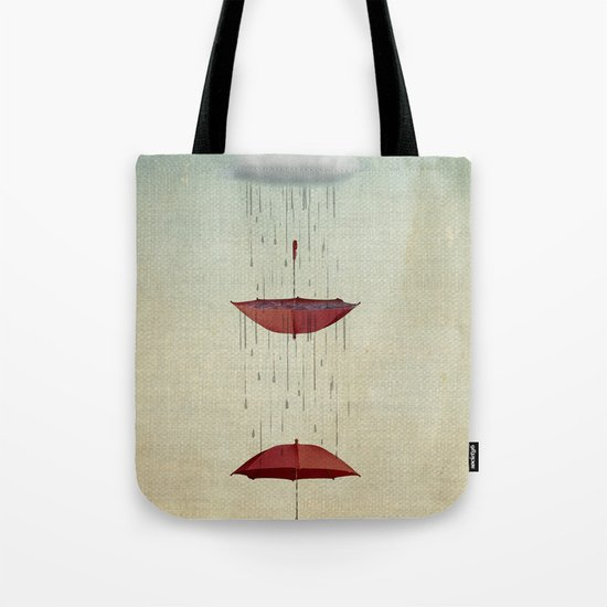 the umbrella runneth over and over Tote Bag