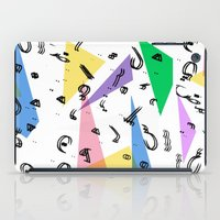 80s Memphis Inspired print with arabic font iPad Case