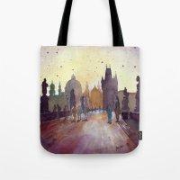 Prague, Watercolor Explo… Tote Bag