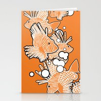 Scorpio fish Stationery Cards