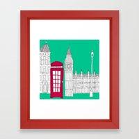 Capital Icons // London Red Telephone Box Framed Art Print